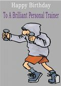 Personal Trainer - Greeting Card